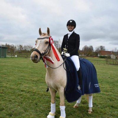 Klubmester hest dressur, Louise & Golden