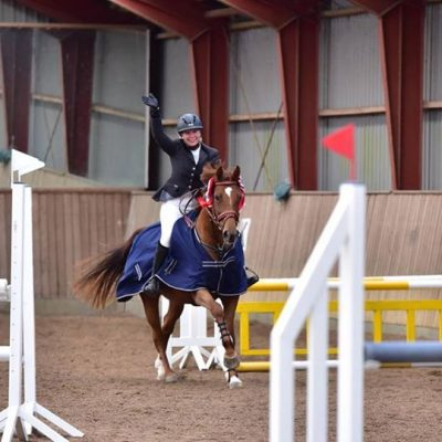 Klubmester hest spring, Maria & Abby